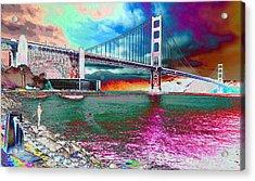 Off The Rocks Fishing Acrylic Print