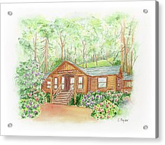 Office In The Park Acrylic Print