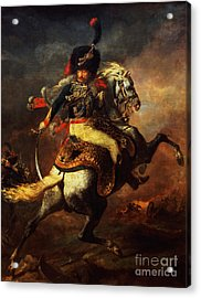 Officer Of The Hussars Acrylic Print by Theodore Gericault