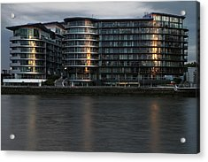 Offices In London Acrylic Print by Adam Sworszt