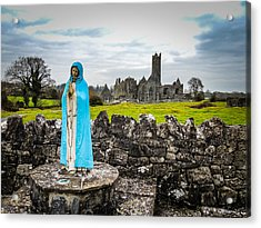 Official Greeter At Ireland's Quin Abbey National Monument Acrylic Print