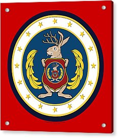 Official Odd Squad Seal Acrylic Print