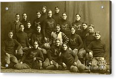 Official Photograph Of 1899 Michigan Wolverines Football Team Acrylic Print by Celestial Images