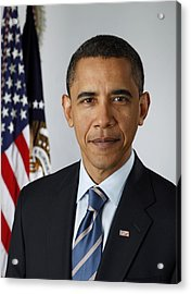 Official Portrait Of President Barack Acrylic Print by Everett