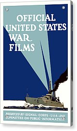 Official United States War Films Acrylic Print