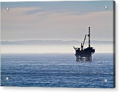 Offshore Oil Drilling Rig Acrylic Print by Roger Mullenhour