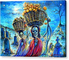 Acrylic Print featuring the painting Ofrendas by Heather Calderon