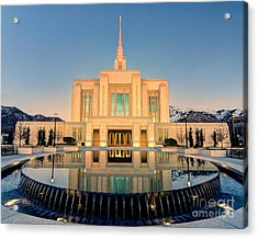 Ogden Lds Temple Acrylic Print