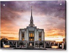 Ogden Lds Temple Sunset Acrylic Print