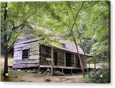 Ogle Homestead - Smoky Mountain Rustic Cabin Acrylic Print by Thomas Schoeller