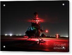 Oh-58d Kiowa Pilots Run Acrylic Print by Terry Moore