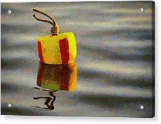 Acrylic Print featuring the painting Oh Buoy by Jeff Kolker