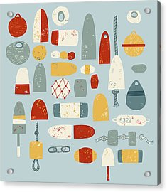 Oh Buoy Acrylic Print by Nic Squirrell