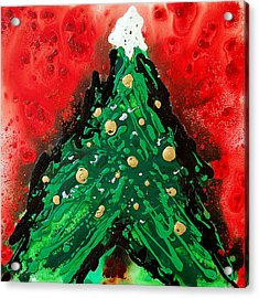 Oh Christmas Tree Acrylic Print by Sharon Cummings