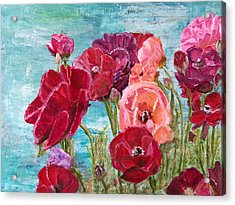 Oh, Giant Tecolote Ranunculus Acrylic Print
