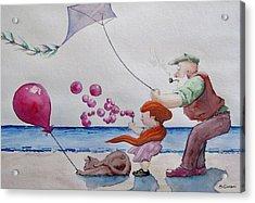 Oh My Bubbles Acrylic Print by Geni Gorani
