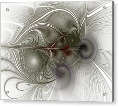 Acrylic Print featuring the digital art Oh That I Had Wings - Fractal Art by NirvanaBlues