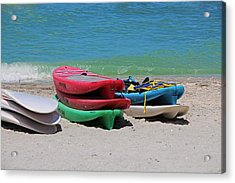 Acrylic Print featuring the photograph Oh The Beach Life by Michiale Schneider