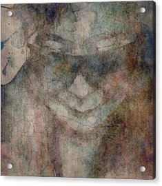 Oh Yoko Porcelain  Acrylic Print by Paul Lovering
