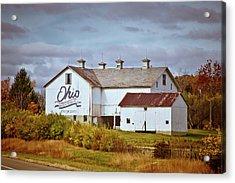 Ohio Bicentennial Barn Acrylic Print by Linda Unger