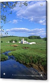 3d203 Ohio Farm Photo Acrylic Print