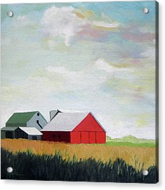 Ohio Farmland- Red Barn Acrylic Print