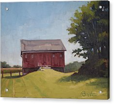 Ohio Red Barn Acrylic Print by Todd Baxter