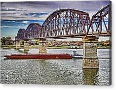Ohio River Bridge Acrylic Print by Dennis Cox