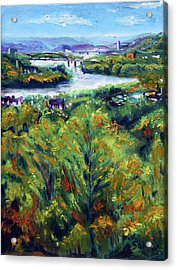 Ohio River From Ayers-limestone Road Acrylic Print by Robert Sako