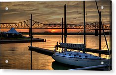 Acrylic Print featuring the photograph Ohio River Sailing by Deborah Klubertanz