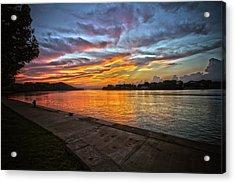 Ohio River Sunset Acrylic Print