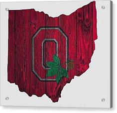 Ohio State Buckeyes Map Acrylic Print