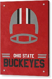 Ohio State Buckeyes Vintage Football Art Acrylic Print by Joe Hamilton