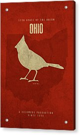 Ohio State Facts Minimalist Movie Poster Art Acrylic Print