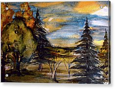 Acrylic Print featuring the painting Ohio Sunset by Mindy Newman