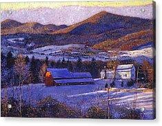 Ohio Winter Blue Acrylic Print by David Lloyd Glover