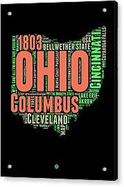 Ohio Word Cloud Map 1 Acrylic Print