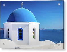 Oia Chapel Acrylic Print