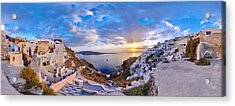 Oia Sunset Acrylic Print by Milos Novakovic