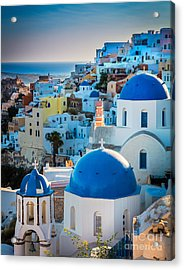 Oia Town Acrylic Print by Inge Johnsson
