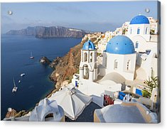 Oia Views, Santorini Greece Acrylic Print