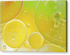 Oil And Water Bubbles  Acrylic Print