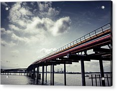 Oil Bridge Acrylic Print