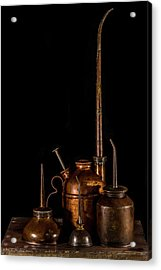 Acrylic Print featuring the photograph Oil Cans by Paul Freidlund