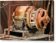 Oil Field Electric Motor Acrylic Print by Art Block Collections