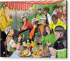 Oil- Luncheon Of The Cycling Party Acrylic Print