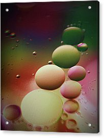 Oil Orbs And Colour Acrylic Print