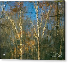 Oil Painting Trees Acrylic Print