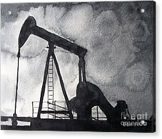 Oil Jack Acrylic Print by Don Hand