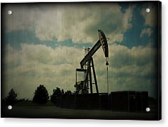 Oil Pumpjack Holga Acrylic Print